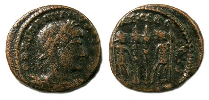 Ancient Coins - Constantine I, AD 307 to 337. AE 3/4