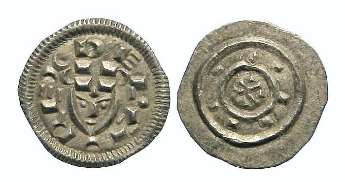 Ancient Coins - Hungary. Bela II, AD 1131 to 1141. Silver Denar.