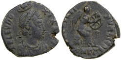 Ancient Coins - Aelia Eudoxia. AD 383 to 404. AE 3.