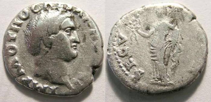 Ancient Coins - Otho, AD 69. Silver denarius