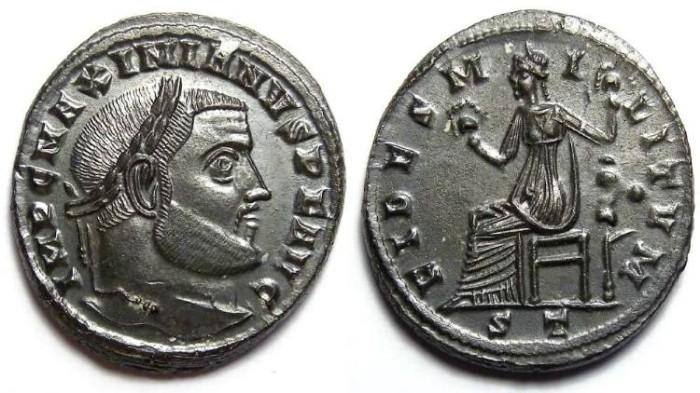 Ancient Coins - Maximianus, 2nd reign. AD 306 to 308. AE follis.