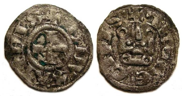 Ancient Coins - Crusaders in Frankish Greece, Athens, William I, AD 1280-1287 and Guy II, AD 1287 to 1294.