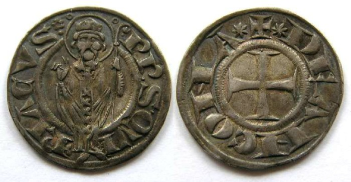 Ancient Coins - Italy, Ancona.  13th century Silver Grosso agontano