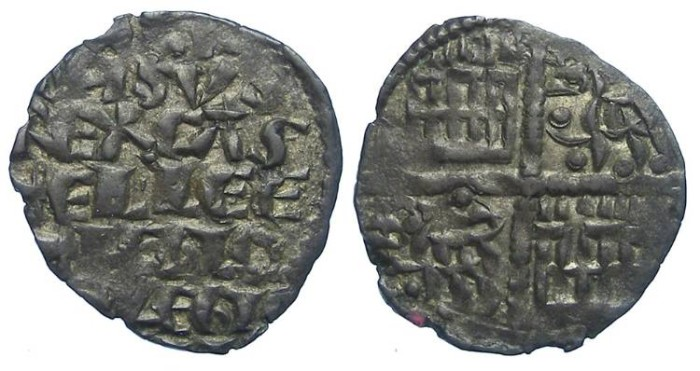 Ancient Coins - Spain, Castile & Leon. Alfonso X, AD 1252 to 1284. Billon dinero blanco.