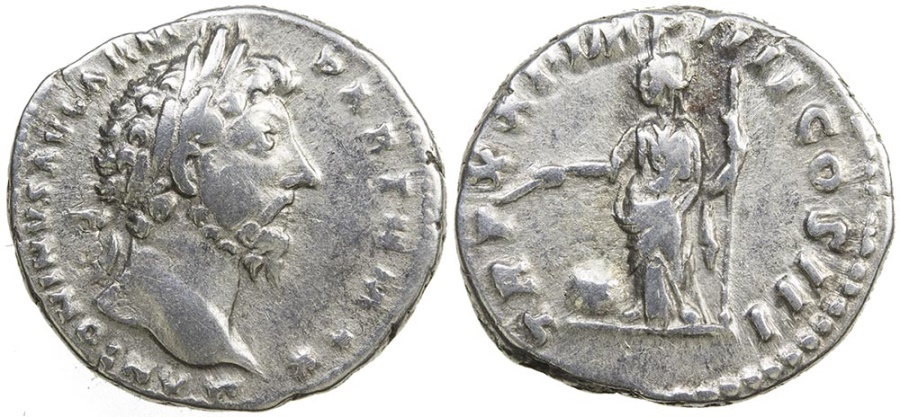 Ancient Coins - MARCUS AURELIUS. AD 161-189. SILVER DENARIUS