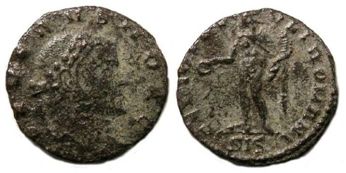 Ancient Coins - Severus II, as Caesar, AD 305-306. 1/4 follis.