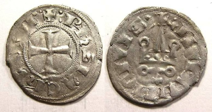 Ancient Coins - Crusaders in Frankish Greece, Philip of Taranto, AD 1306-1313.  AS Despotate of Epirus and Corfu.
