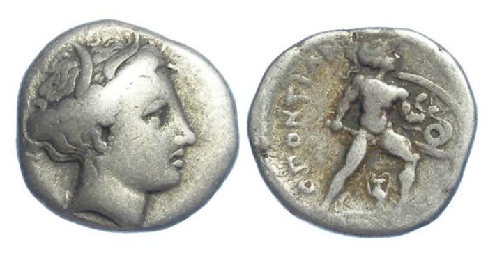 Ancient Coins - LOKRIS OPUNTIA. ca. 369 TO 338 BC. Silver hemidrachm.