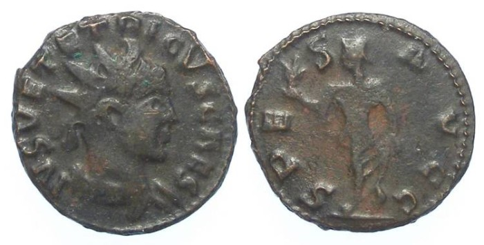Ancient Coins - Barbarous imitative of a Tetricus II, AD 273 to 274. Bronze Antoninianus