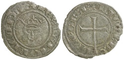 World Coins - Spain, Mallorca.  Jaume III, AD 1324-1344.  Billon Dinero.