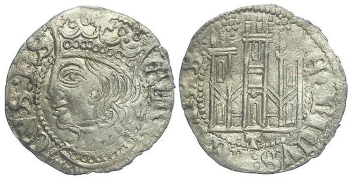 Ancient Coins - Spain, Castile & Leon. Enrique II, AD 1368 to 1379. Billon Coronado