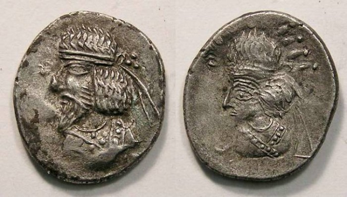 Ancient Coins - Kingdom of Persis. Artaxerxes III, 1st century AD. Silver drachm.