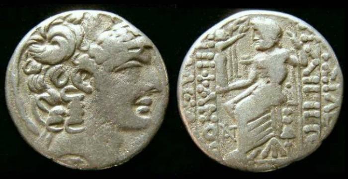 Ancient Coins - Roman Syria. Philip Philadelphos style silver tetradrachm struck under Augustus.
