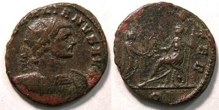 Ancient Coins - Aurelian, AD 270-275. Bronze Antoninianus.