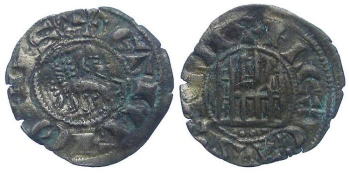 World Coins - Spain, Castile & Leon. Fernando IV, AD 1295-1312. Billon Pepion.