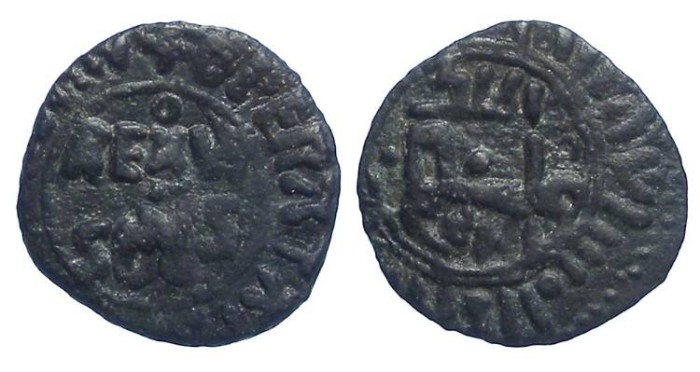 Ancient Coins - Normans in Sicily. William II, AD 1166 to 1189.  AE Follaro.