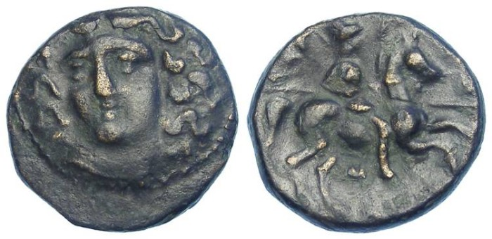 Ancient Coins - Larissa in Thessaly. ca 360 TO 325 BC. AE 20.
