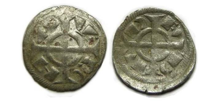 Ancient Coins - Italy, Verona. Fredrick II, 1218 to 1250, billon denaro.
