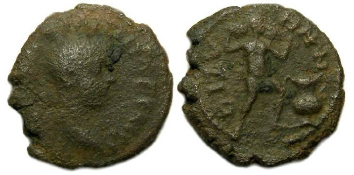 Ancient Coins - Philip II, AD 244-249. AE 17 from Bizya in Thrace.