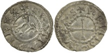 World Coins - Carolingian, Charles the Bald. AD 840 to 870. King of the West Franks.