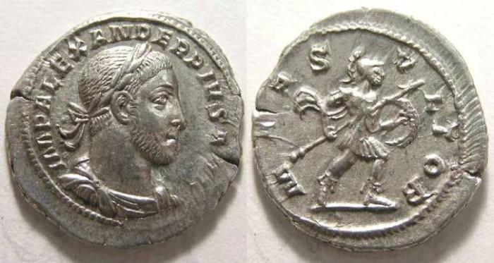 Ancient Coins - Severus Alexander. AD 222-235. Silver denarius