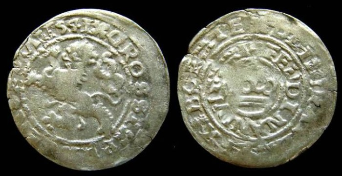 Ancient Coins - Bohemia. Ferdinand I, AD 1526 to 1654. Silver prager groschen.
