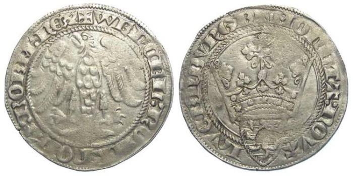 Ancient Coins - Luxembourg. Wenceslas II, AD 1383 to 1388. Silver Gros an Gene.