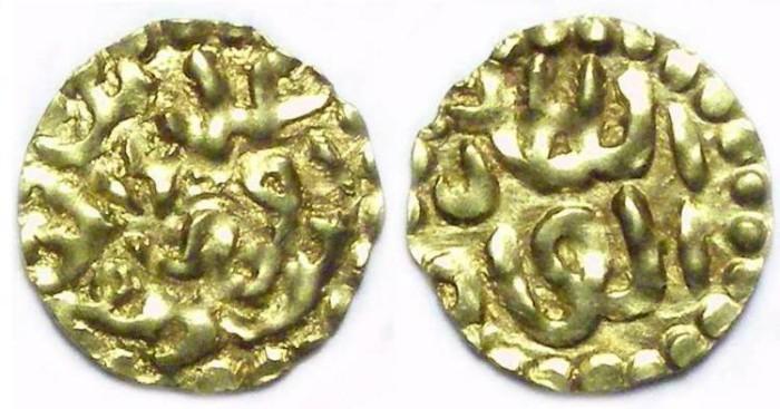 Ancient Coins - Islamic, Sumatra, Atchih Sultinate. Ala al din Riayat Shah. AD 1589 to 1604. Gold Kupang.