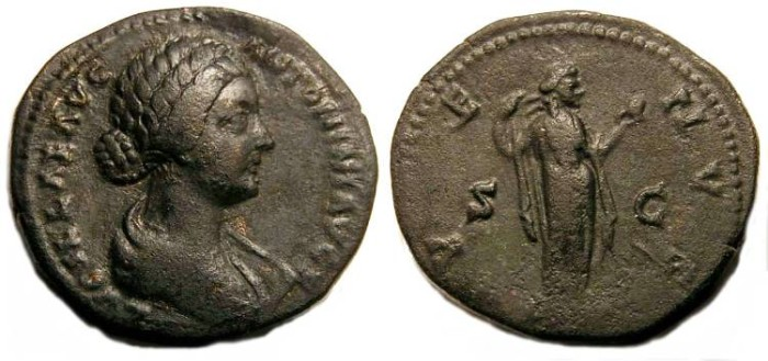 Ancient Coins - Lucilla.  After AD 164.  Bronze As.