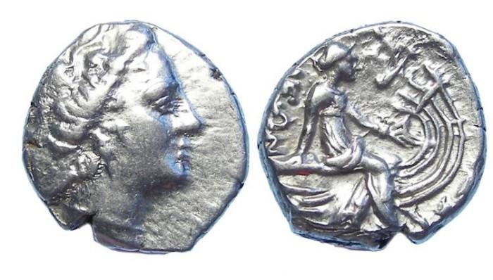 Ancient Coins - Euboia, Histiaia. 3rd to 2nd century BC. Silver tetrobol.
