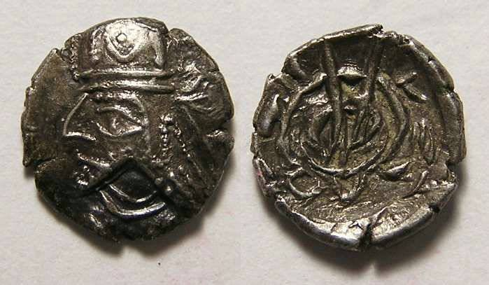 Ancient Coins - Kingdom of Persis. The Unknown King, 1st century BC. Silver obol.
