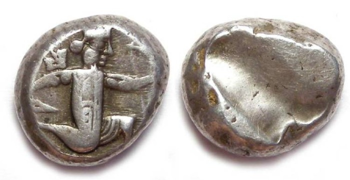 Ancient Coins - Royal Persian Coinage. ca. 420 to 375 BC. Silver Siglos.