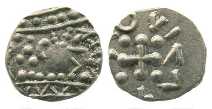 Ancient Coins - Britain, Anglo-Saxon, ca. AD 700 to 750. Frisian sceattas.