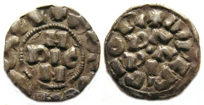 Ancient Coins - Italy, Pavia. Henry III, AD 1056 to 1101. Silver Denaro