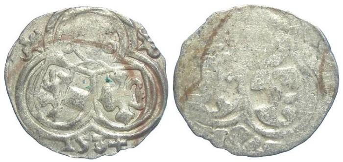 World Coins - Austria, Salzburg. Matthaus Lang von Wellenburg, AD 1519 to 1540.  Silver Zweier. 1534.