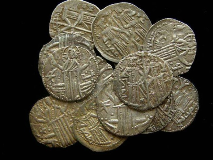 Ancient Coins - Bulgaria. Ivan Alexander and Michael Asen. AD 1335 to 1355. Silver Groshen.