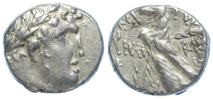 Ancient Coins - Phoenicia. Tyre silver shekel (30 Pieces of silver type), struck in the crucifixion year (30 to 31 AD).