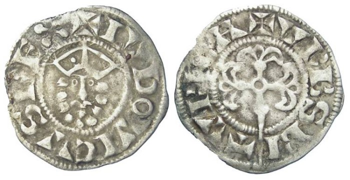 Ancient Coins - French Royal. Louis VII. AD 1137 to 1180. Silver denier.