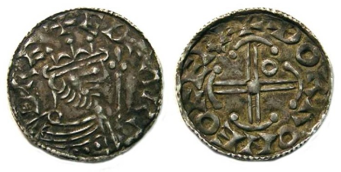 Ancient Coins - Britian, Anglo-Saxon. Edward the Confessor, AD 1042 to 1066. Silver penny.