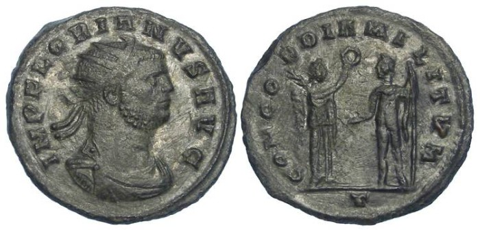 Ancient Coins - Florian.  June to September of AD 276.  AE antoninianus.