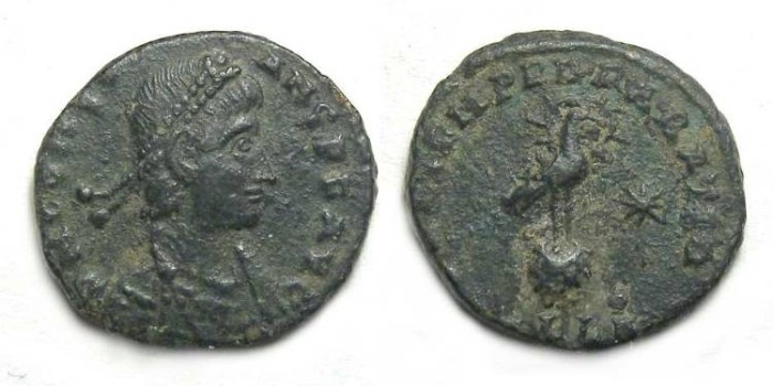 Ancient Coins - Constans as Augustus. AD 337 to 350. AE 1/2 Centenionalis.