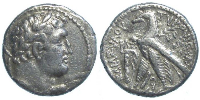 Ancient Coins - Phoenicia. Tyre half silver shekel (temple tax type), struck during the lifetime of Christ.