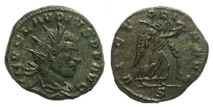 Ancient Coins - Claudius Gothicus, AD 268-270, Bronze Antoninianus.