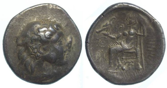 Ancient Coins - Danubian Celtic. Imitating Philip III. 3rd to 2nd century BC. Silver tetradrachm.