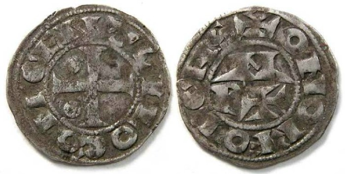 Ancient Coins - France Feudal. Bearn. Centulle 1st to 5th, 11th to 15th century. Silver denier.