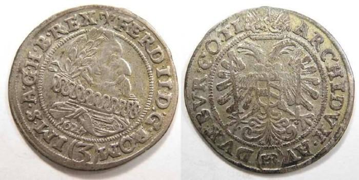 Ancient Coins - Bohemia, Ferdinand II. 3 Kreuzer of 1627.