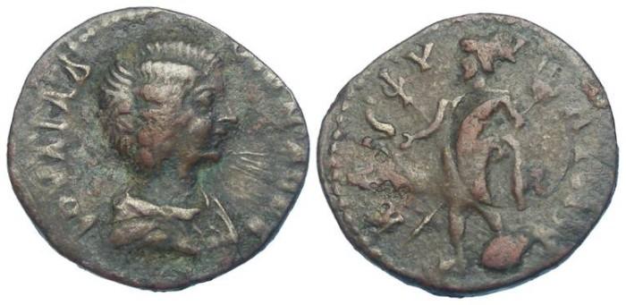 Ancient Coins - Julia Domna.  AD 193 to 217.  AE 21 from Kaphyai in Arkadia.  Rare.