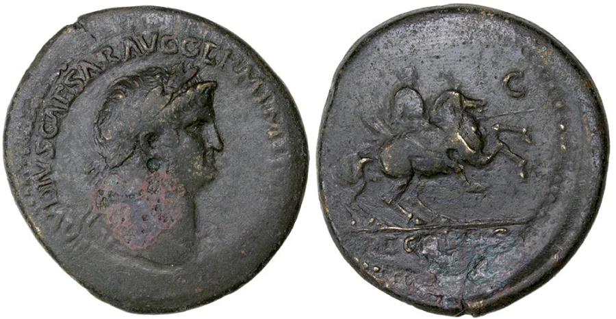 Ancient Coins - NERO  AD 64-68.  AE SESTERTIUS.  New variety for Balkan mints?.