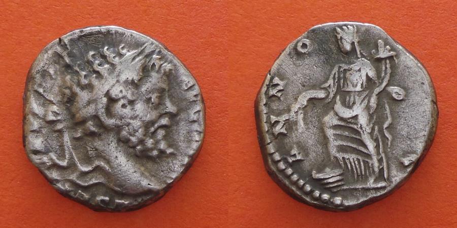 Ancient Coins - Septimius Severus  AD 193-211 AR Denarius. Rome