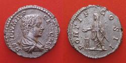 Ancient Coins - Geta as Caesar (197-209), AR Denarius, Rome